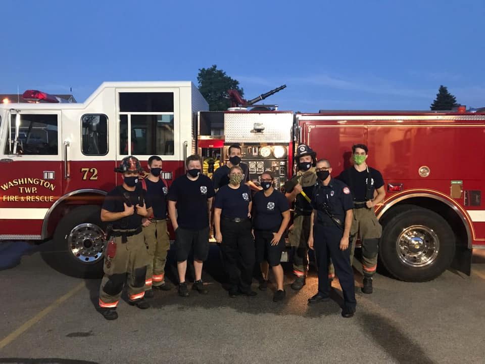 fire Township group photo with Masks