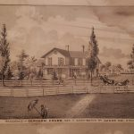 Gershom Crabb House black and white drawing