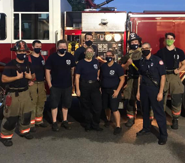 Fire Department group photo with masks