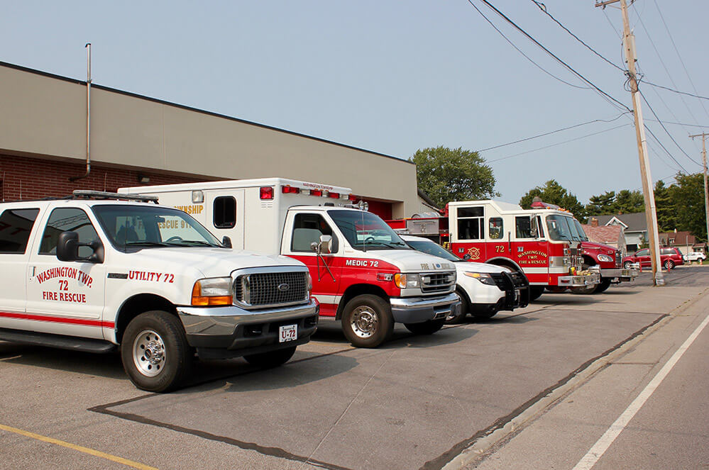 Multiple Rescue Vehicles outside township