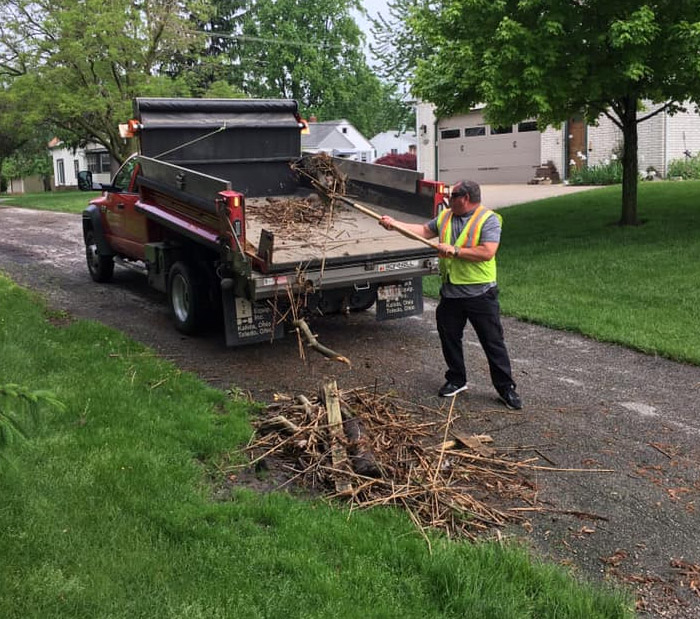 Brush and Roads worker